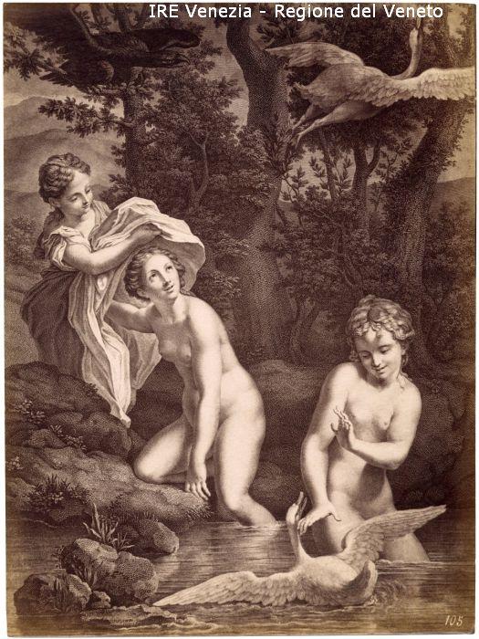 105 - Ragazze al bagno e cigni / Filippi, Tomaso; / 1895 ( ca. )
