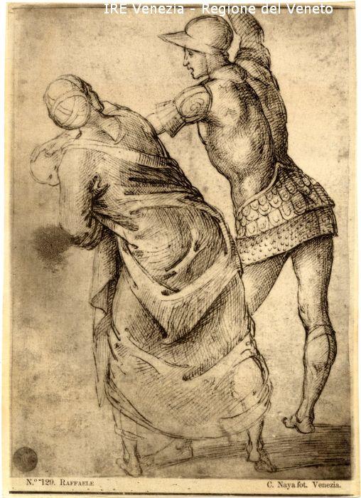 129 - Studio per donna con bambino e soldato / positivo / 1895 ( ca. )