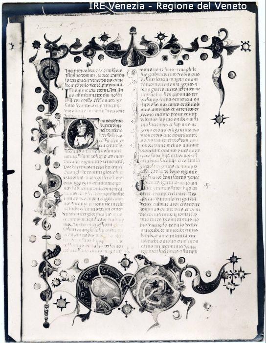 Miniatura, capolettera figurata con Doge / positivo / Filippi, Tomaso; / 1900 ( ca. )