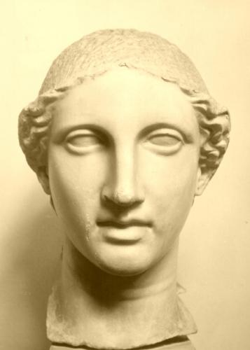 Testa femminile / Atena / epoca classica/ sec. V a. C. (seconda metà)